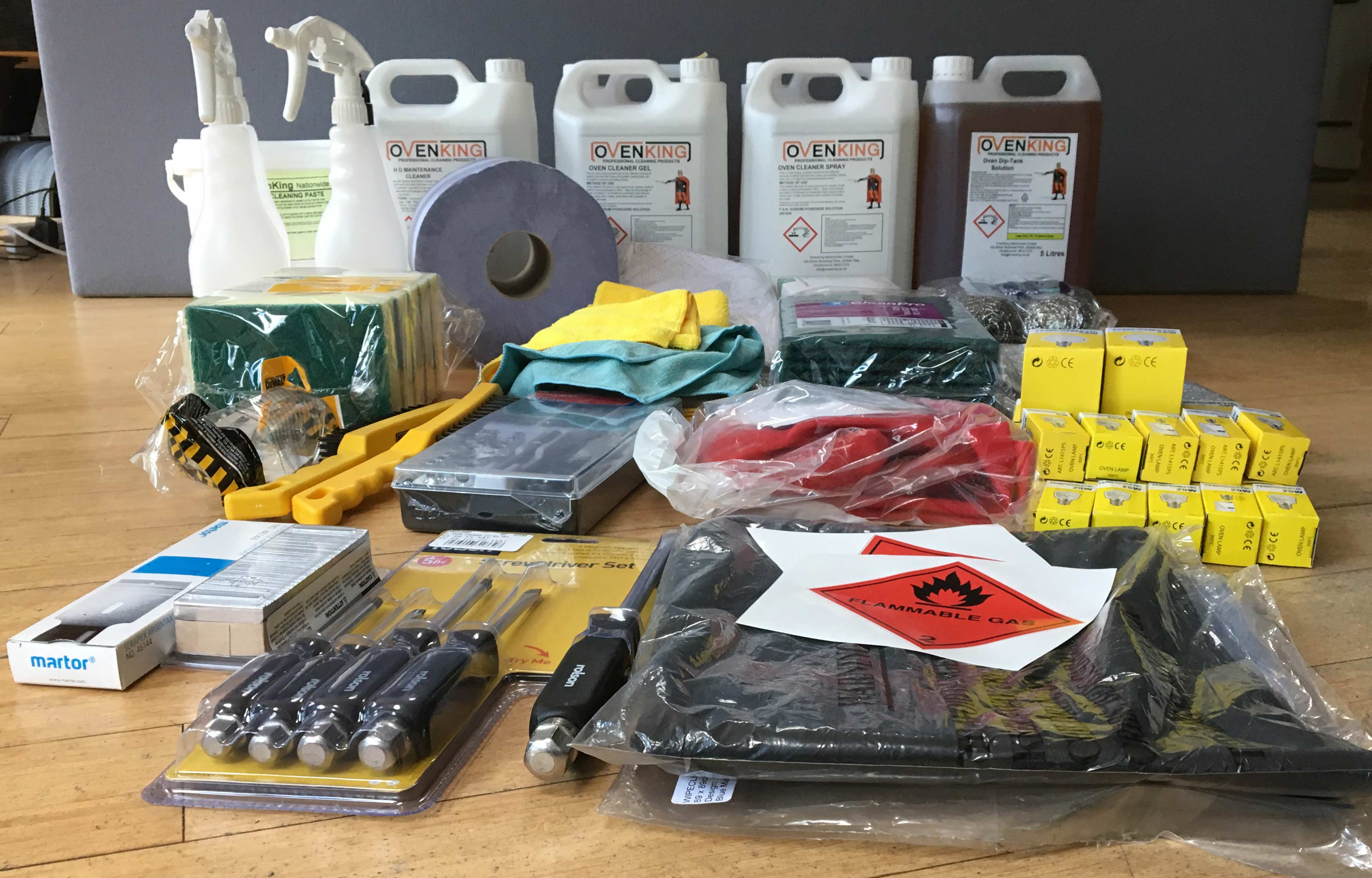 OvenKing Startup Chemical & Tool Start Up Package